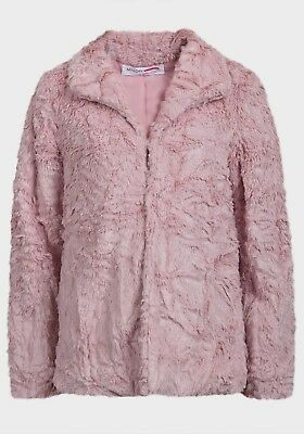 MINOTI girls kids faux fur jacket coat 3-8 years PINK