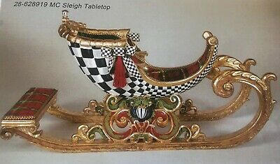 Mackenzie Childs Retired Christmas Tabletop Sleigh 28-628919 NEW