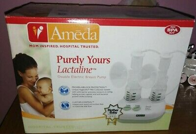 Ameda Purely Yours Lactaline Double Electric Breast Pump In Box
