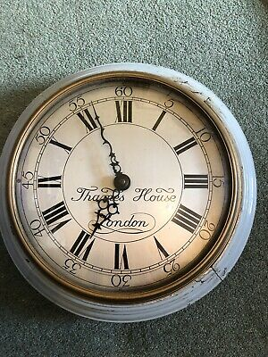 Rare Vintage Thames House London Smith's Synchronous Electric Wall Clock