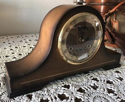 Vintage Wooden Centurion 35 day Mantle clock Parts Or Refurbish