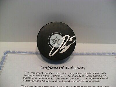 Julius Honka Autographed Signed Dallas Stars Puck COA CLEARANCE PRICED!