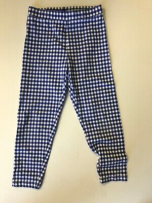 Crew Cuts Blue Plaid Girls Leggings Size 8