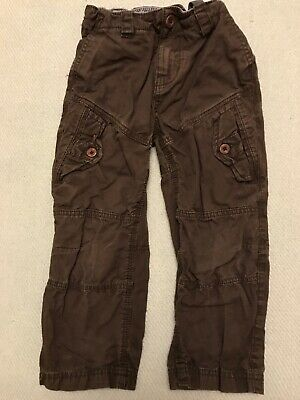 Boys Brown Fat Face Trousers 5 Years