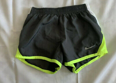 Toodler Girls Nike Dri Fit Shorts Gray Yellow And White Size 5