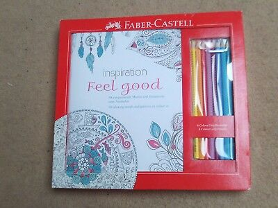 Adult Colouring Book Feel Good Mindfulness Pencils Art Craft New