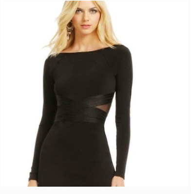 Elizabeth and James Such A Tease Black Mesh Sexy Dress Women's Size Small