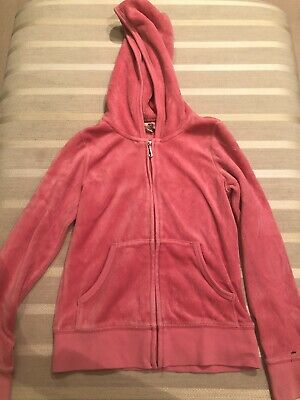 Girls Juicy Couture Tracksuit Top Velour Pink Age 7 Years