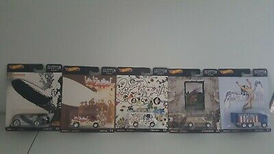 Hot Wheels 2020 Pop Culture Led Zeppelin Complete 5 Car Set - Brand New!
