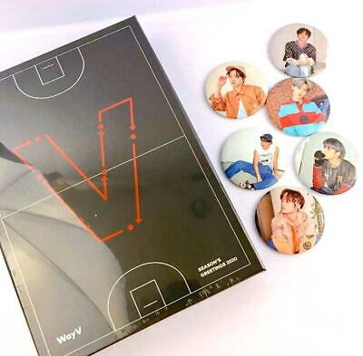 WayV SEASON'S GREETINGS 2020 + Member Choice Hand Mirror + SuperM Tour Photocard