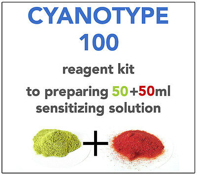 2x CYANOTYPE REAGENT KIT  ALL YOU NEED TO SENSITIZE (EACH) 20-25 A4 SHEETS