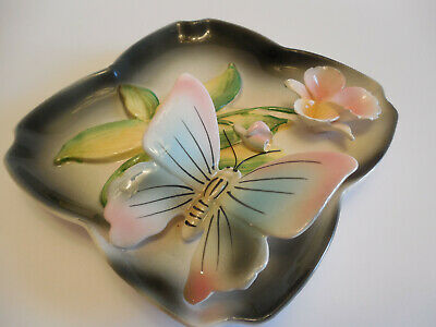 Vintage/ Retro 1960's Ceramic 3D Butterfly Wall Plaque