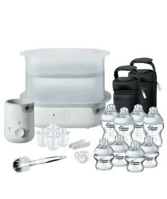 Tommee Tippee Closer to Nature Complete Feeding Set Electric Steriliser White