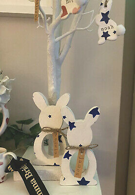 Emma Bridgewater Themed Wooden Easter Bunny - Creme Egg Holder Starry Skies