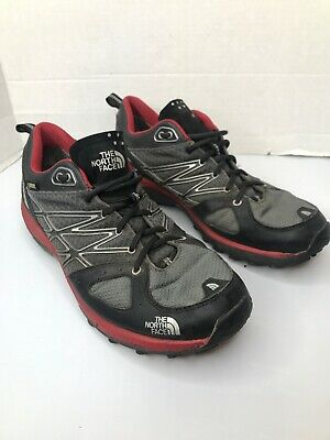 The North Face Mens Gore-Tex Vibram Black Red Hiking Trail Shoes Cradle Size10.5