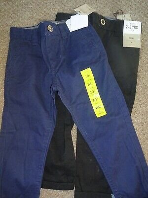 Boys Casual Clothes Bundle 2-3 Years 98Cm - Slim Fit Trousers X2 Bnwt New Tags