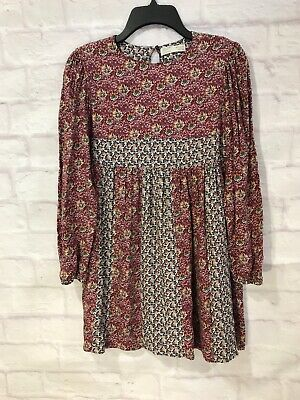 New Zara Kids collection BoHo floral purple Girls Dress 11 - 12 $35.90