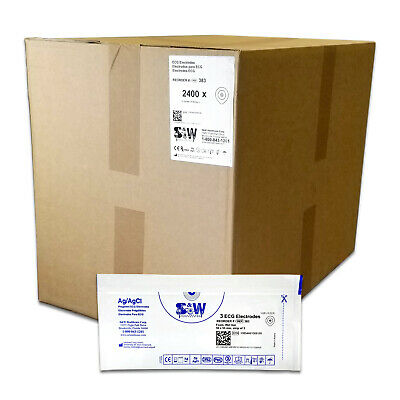 S&W Healthcare Series 383 Foam Wet Gel High Performance Electrodes - Case 2400