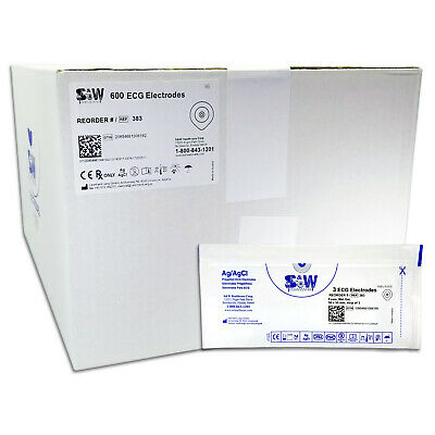 S&W Healthcare Series 383 Foam Wet Gel High Performance Electrodes - Box of 600