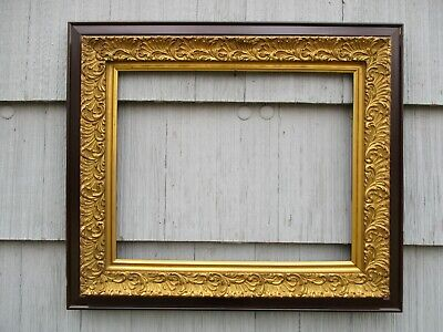 Large Antique Victorian Aesthetic Gilt Gesso & Wood Picture Frame fits 20x16