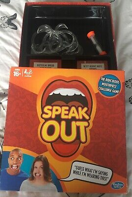 Speak Out Game Board Party Mouth Piece Challenge Family Kids Fun