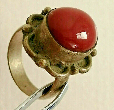 Extremely Rare Ancient Roman Silver Ring Artifact Amazing Stone
