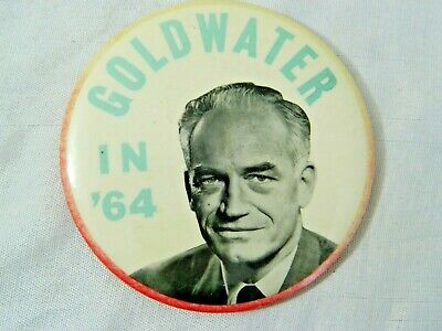 Vintage Barry Goldwater 1964 Political Campaign Button Pin Litho A.G. Trimble Co