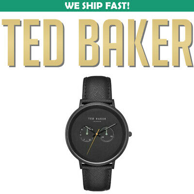 Ted Baker TE50657002 Black Leather Strap Day/Date Dial Men's Watch