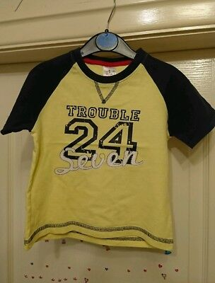 Boys Navy & Yellow Urban Rascals 'Trouble 24/7' Top 1.5-2 Years