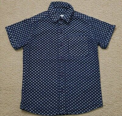 Boy's River Island Blue Patterned Short Sleeve Shirt  Age 5
