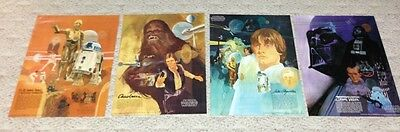Original Set Of 4 Star Wars Posters - Burger Chef 1977****Guaranteed Quality***