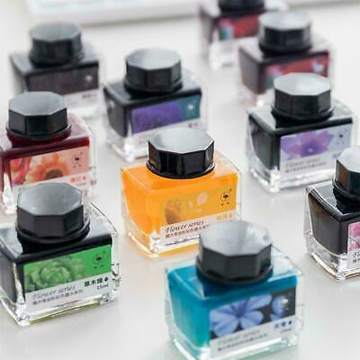 15ml Colorful Fountain Pen Ink Flower Series Pen Ink Gifts Colors For 12 N0Z1