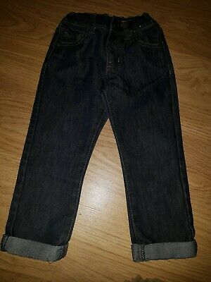 Boys Urban Rascals dark blue denim turn up jeans....age 3 years