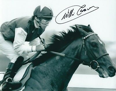 WILLIE CARSON SIGNED 8x10 PHOTO - UACC & AFTAL RD HORSE RACING JOCKEY AUTOGRAPH