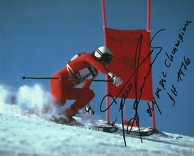 FRANZ KLAMMER SIGNED 8x10 PHOTO - UACC RD - DOWNHILL OLYMPIC GOLD + WORLD CHAMP