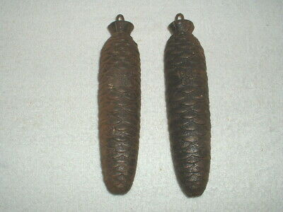 Pair of Vintage Pine Cone Cuckoo Clock Weight 1500ET Each