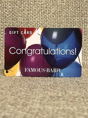 Famous-Barr Department Store Collectible Gift Card NO VALUE