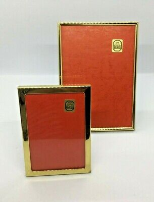 Solid Brass Mid 20th Century NEW Vintage Picture Frames - Art Deco - Set of 2