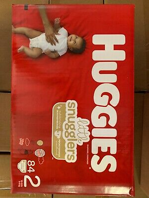 3 Cases Huggies Little Snugglers Diapers - Size 2 (84ct)