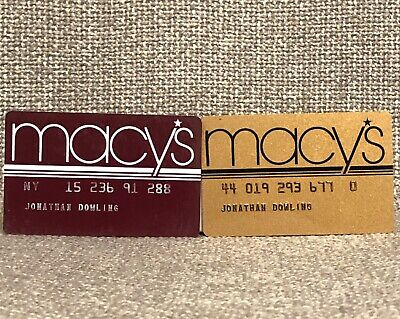Macy's Department Store Vintage Collectors Credit Card SET OF TWO