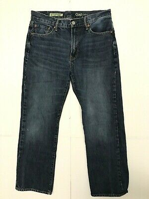 Gap jeans mens size 30 x 30 relaxed blue dark wash BX3