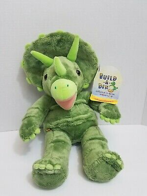 Build a Bear Workshop Dinosaur Green Triceratops Plush BABW Dino W/ Tags 18""