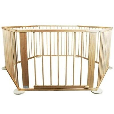 Kiddy Cots 6 Panel Wooden Playpen Child Pet Safety Yard