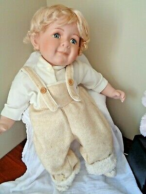 Very Collectable Large Cathay Porcelain Doll, 55 Cm
