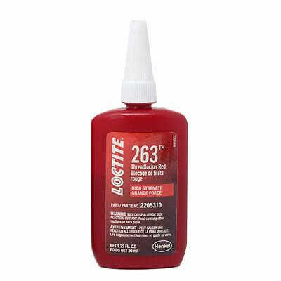 Loctite 2205310 1 Pack 263 Threadlocker Surface Insensitive (Red, 36 ml Bottle)
