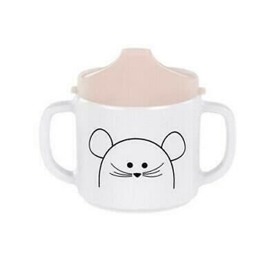 Lassig Kids 2-Handle Cup with Lid & Silicone, Mouse