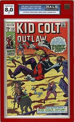 Kid Colt Outlaw #140  HALO Graded (8.0 VF) 1969 - Silver Age