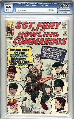 Sgt. Fury And His Howling Commandos #12 - HALO Graded 6.5 (FN+)1964 - Silver Age