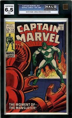 Captain Marvel #12  HALO Graded (6.5 FN+) 1969 - Silver Age