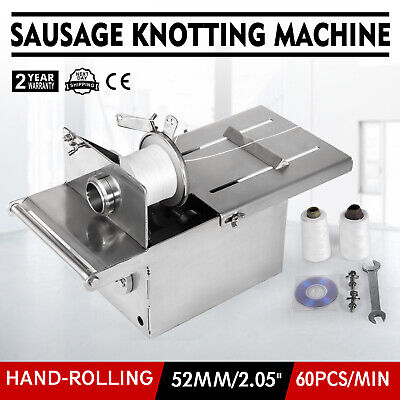 52mm Manual Hand-Rolling Sausage Tying & Knotting Machine Food Stainless Steel